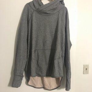 Lululemon hoodie / Size 12 Grey *pink stain